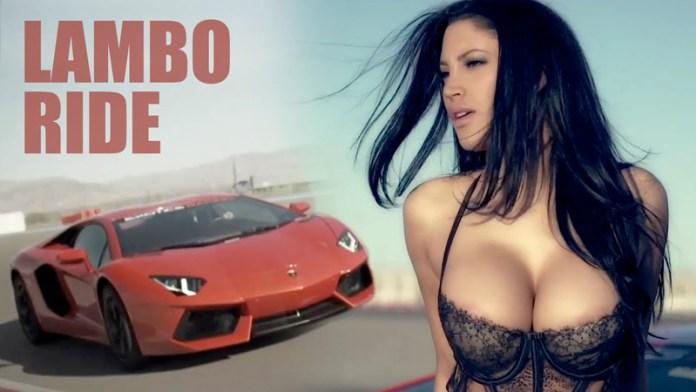 Modelo de Playboy, Jesse Preston la pasa mal en un Lamborghini