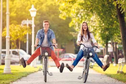 Having Fun Riding Bikes - Aliso Viejo Homes