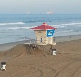 Ocean View Homes - Early Morning Huntington Beach CA Lifeguard Tower