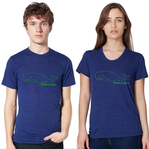 Red Wanting Blue Hope On A Rope Whale Shirt Models
