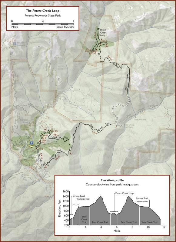 Peters Creek Loop Trail Map
