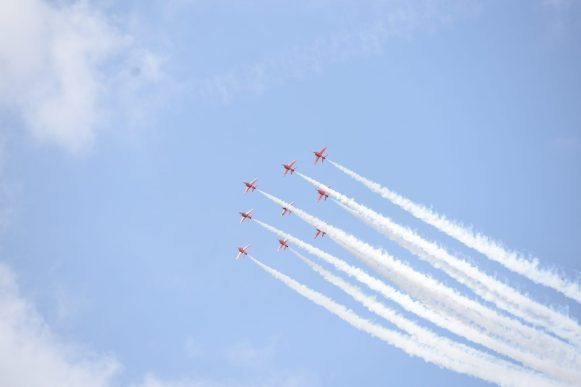 The Red Arrows in Suffolk