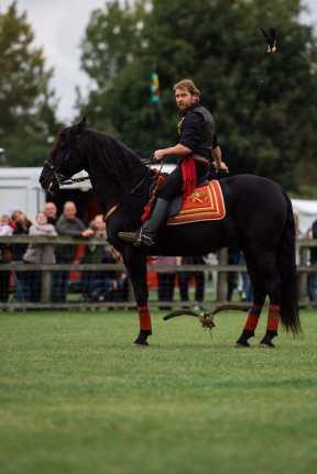 Jonathan Marshall at the Falconry & Countryside Show, Stonham Barns, Suffolk