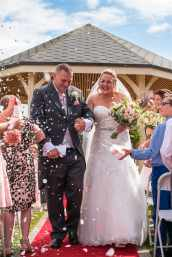 Wedding photography confetti shot at Kenwick Park Hotel, Lincolnshire