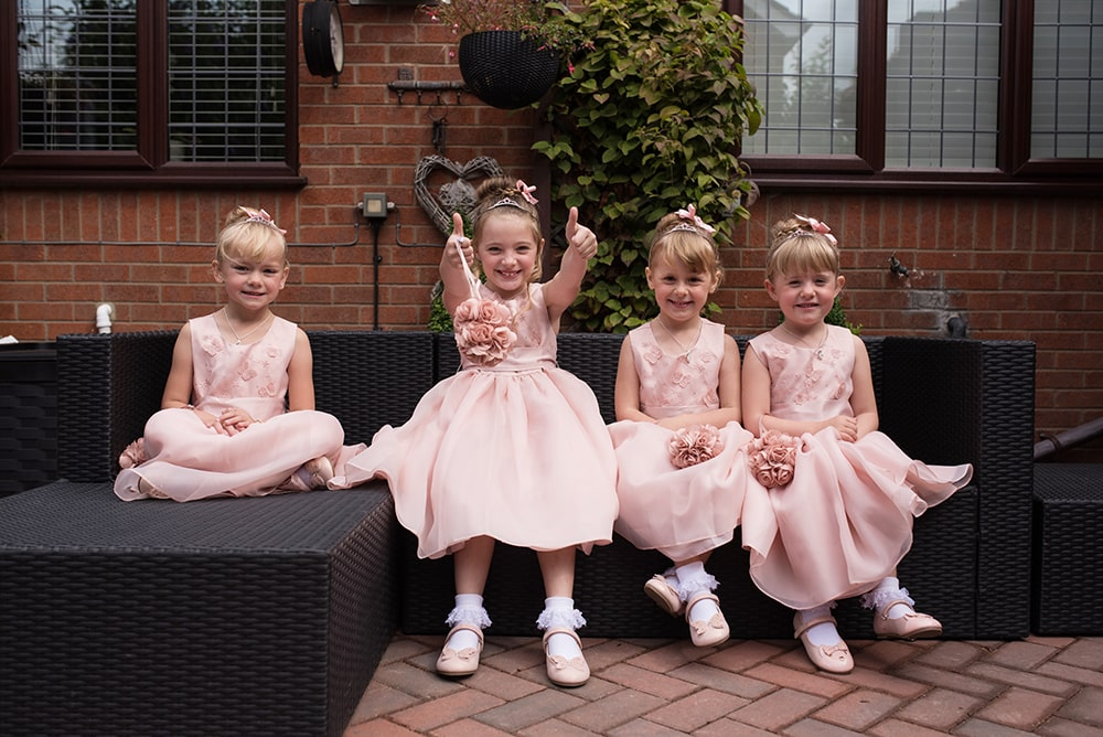 Wedding photography, flower girls