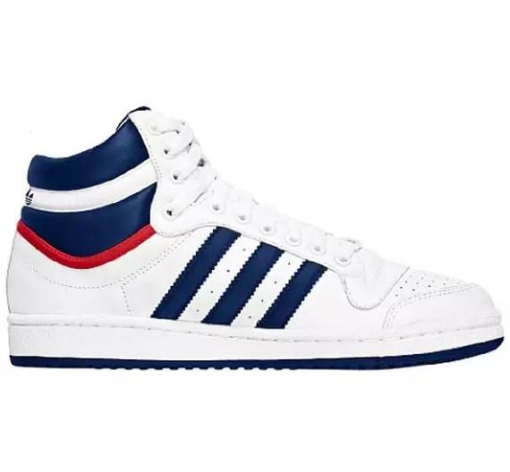 Homme Baskets Top Ten Hi F37588 Adidas Originals Blanc