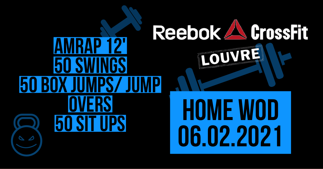 Swing Sit Up Box Jump Jump Over AMRAP Triplet