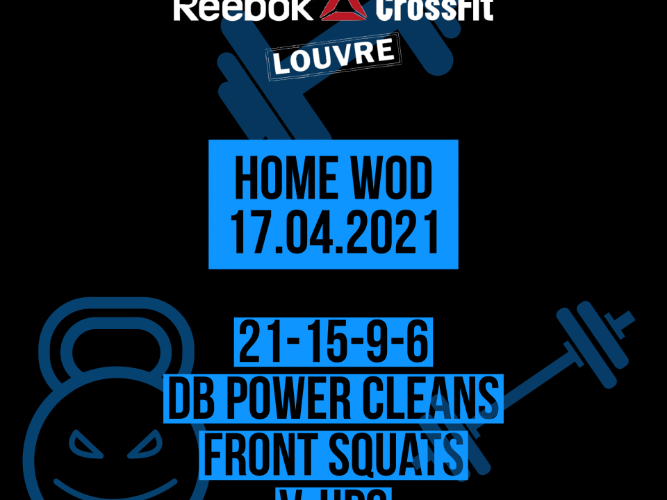 For Time Power Clean Front Squat V-Up