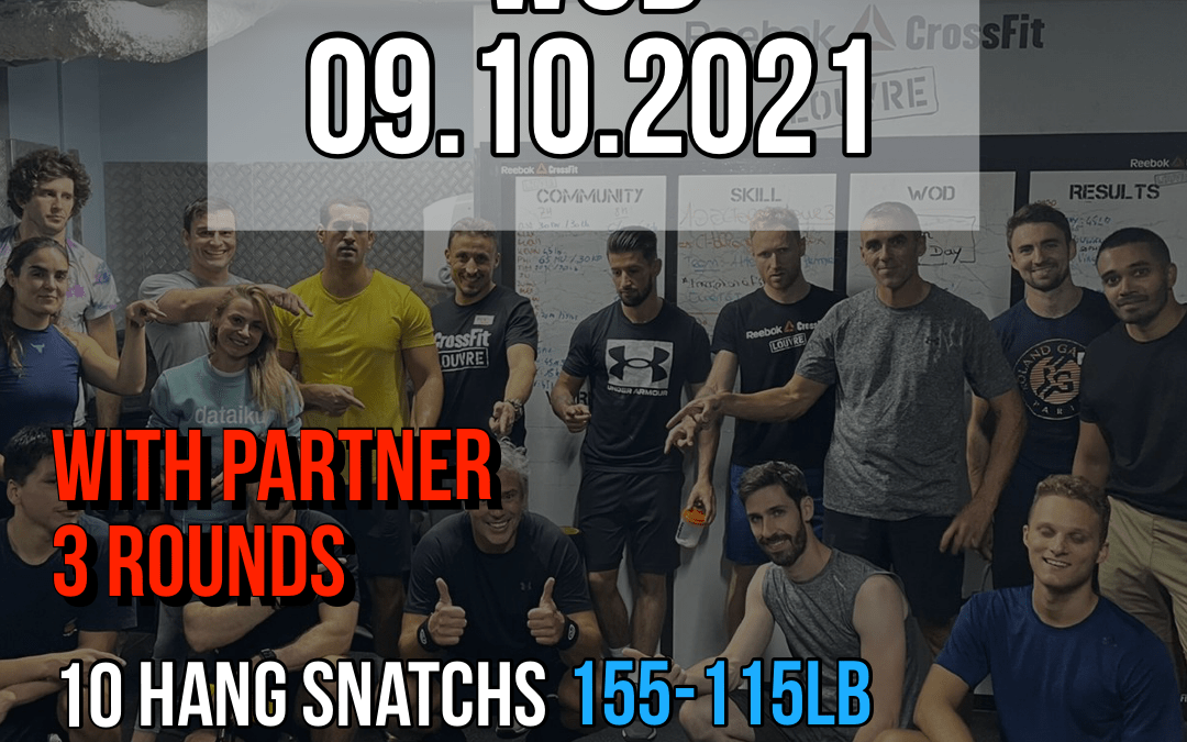 For Time With Partner Hang Snatch Run Burpee Synchro
