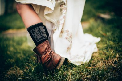Bride in Boots and Reeb Cycles Socks