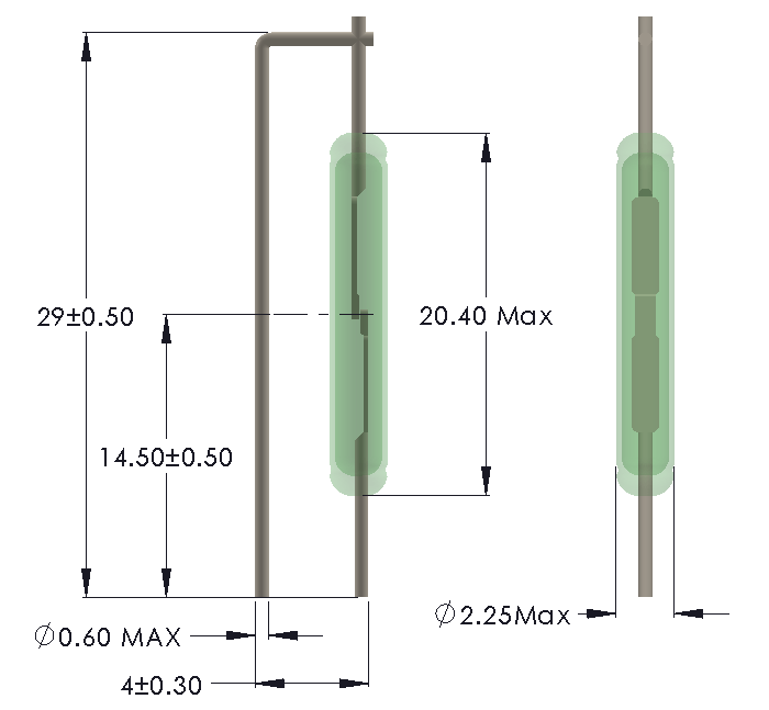 Drawing for Vertical mounting