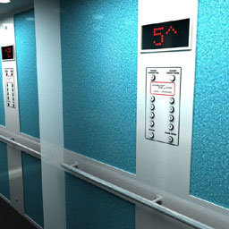 Reed switches in floor detection in lifts