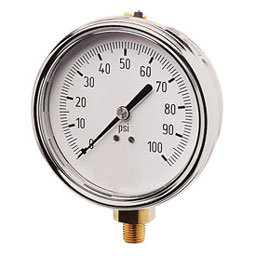 Reed switches in bourdon tube pressure gauge