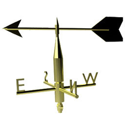Reed switches in wind vanes