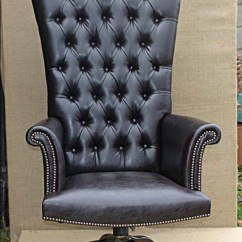 Throne Office Chair La Z Boy Big Tall Executive Leather Swivel And Tilt Chairs Handmade In Britain Reed Rackstraw Fine High Back Deep Buttoned Revolver