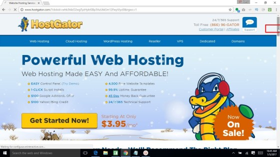 Scroll down once the Hostgator site loads
