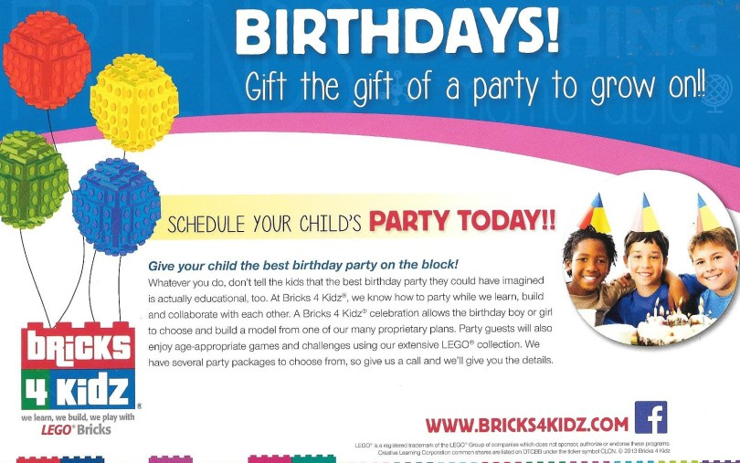 Bricks 4 Kids Birthdays