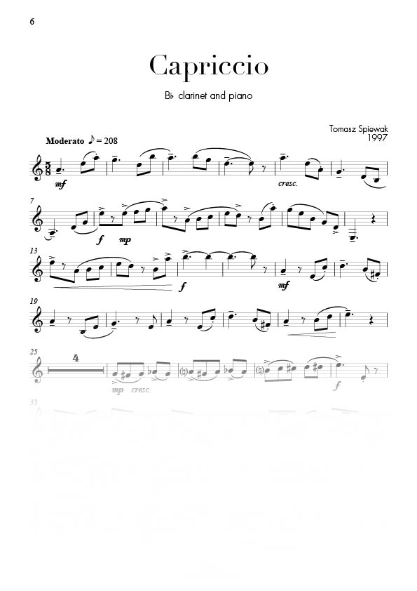 Mosaic (7 pieces) by Tomasz Spiewak for Clarinet & Piano