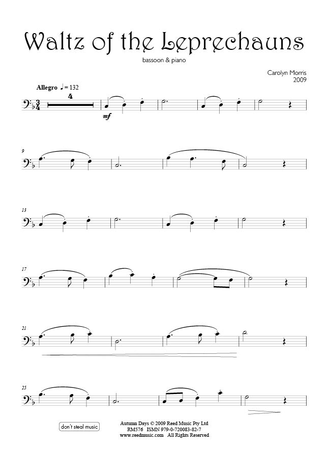 Exam: Trinity Bassoon Grade 1 | Reed Music