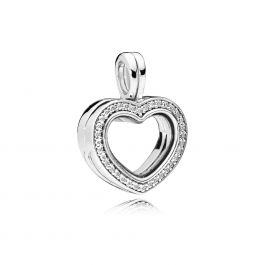 Pandora Sparkling Pandora Floating Heart Locket, Clear