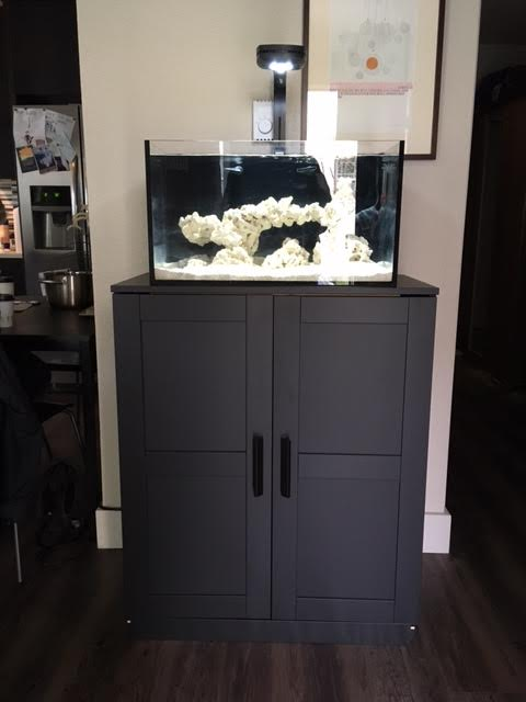 IKEA Brimnes cabinet as stand for Nuvo 20  REEF2REEF