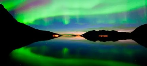 Aurora (norther/southern) lights in the sky