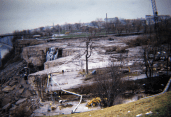 Rare color photo of Niagara Falls in 1969 after all water was diverted away