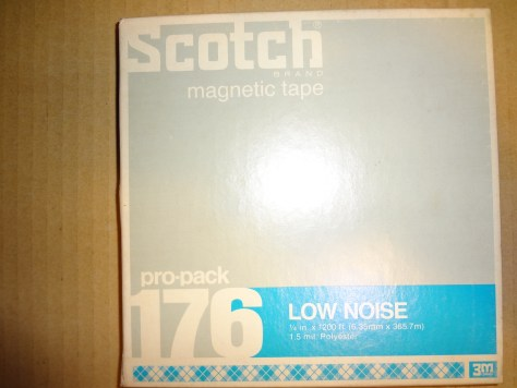 Scotch 176 pro-pack magnetic tape low noise 1:4 in x 1200 ft