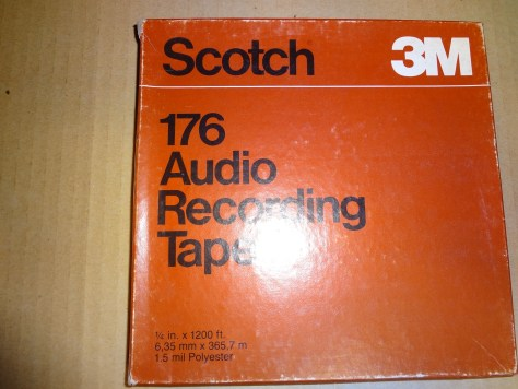 Scotch 3M 176 Audio Recording Tape reel to reel 1:4 in x 1200 ft