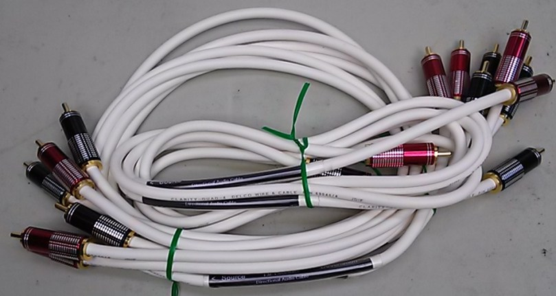 Directional recording studio quality cables