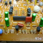 close up circuit board Teac Z-7000 Master Cassette Deck