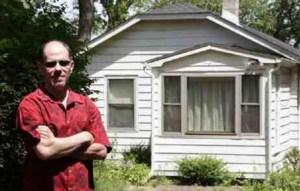 """""""Algren"""" filmmaker Michael Caplan at Algren's house in Miller Beach, Ind."""