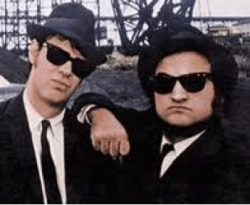 """The Blues Brothers:"" Dan Ackyrod and John Belushi"