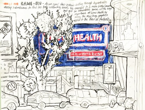 """Stephen Neale, """"Cannes Sketch No. 5"""" (Click to view enlargement)"""