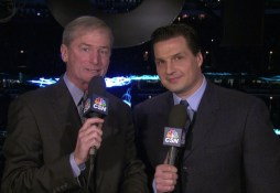 Pat Foley and Eddie Olczyk open CSN's Hawks home game