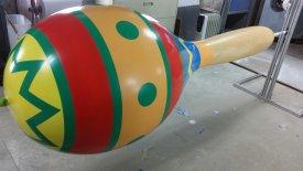 The eight-foot-tall maraca