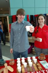 North Central students serve direct trade coffee at CoffeeCON 2012
