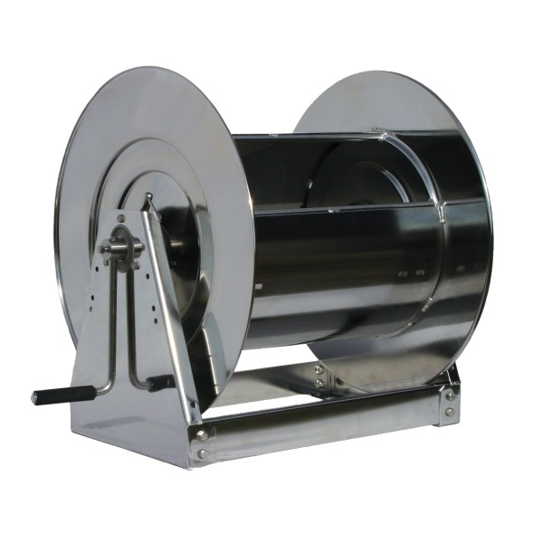 Hs37000 L - 1 In. X 100 Ft. Stainless Steel Hand Crank Hose Reel Cord And Cable Reels