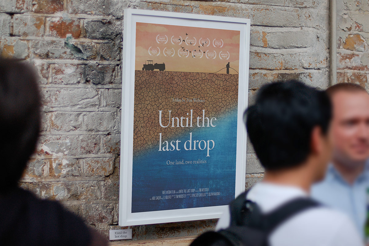 Until the last drop documentary film poster outside