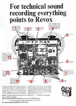 Revox A77 advertisment from end of the 60s