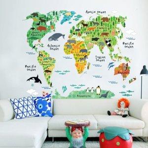 Weltkarte Tierwelt