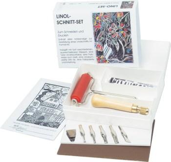 Linolschneidewerkzeug Set mit Sicherheitshalter
