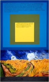 Ascensión (textos de Ana María Escallón)Óleo, acrílico y letras autoadhesivas sobre tela 1995