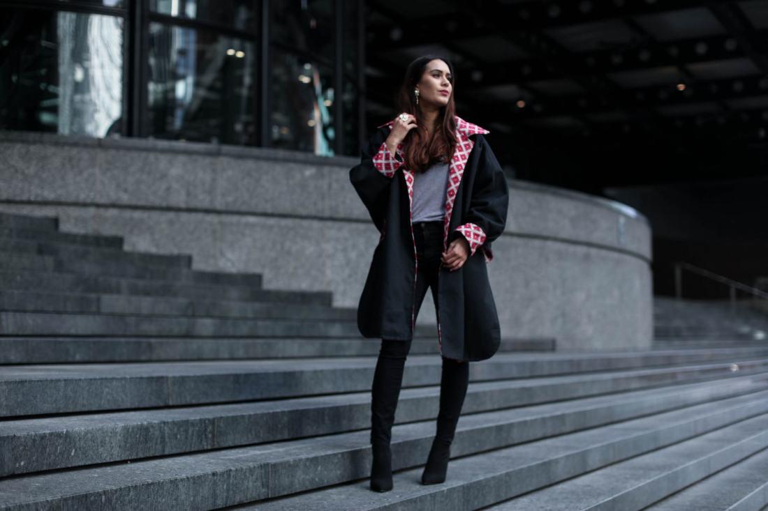 Fashion blogger Reena Rai wearing Shyzuka Studio
