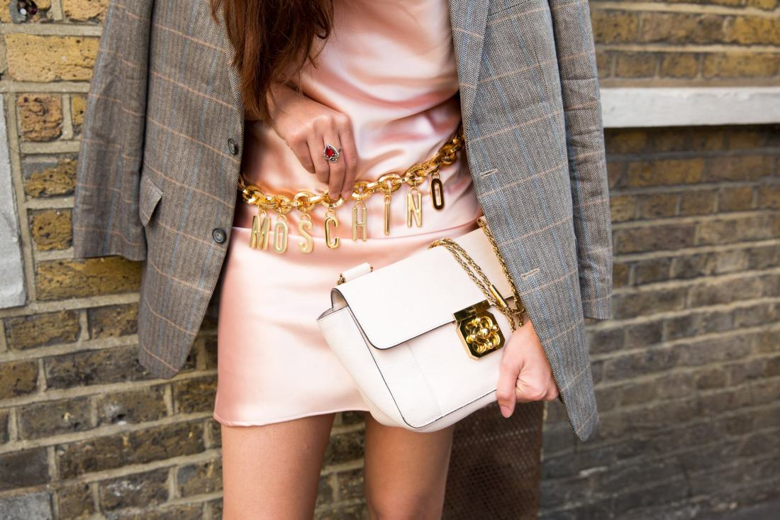 Moschino belt and Chloe Elsie handbag