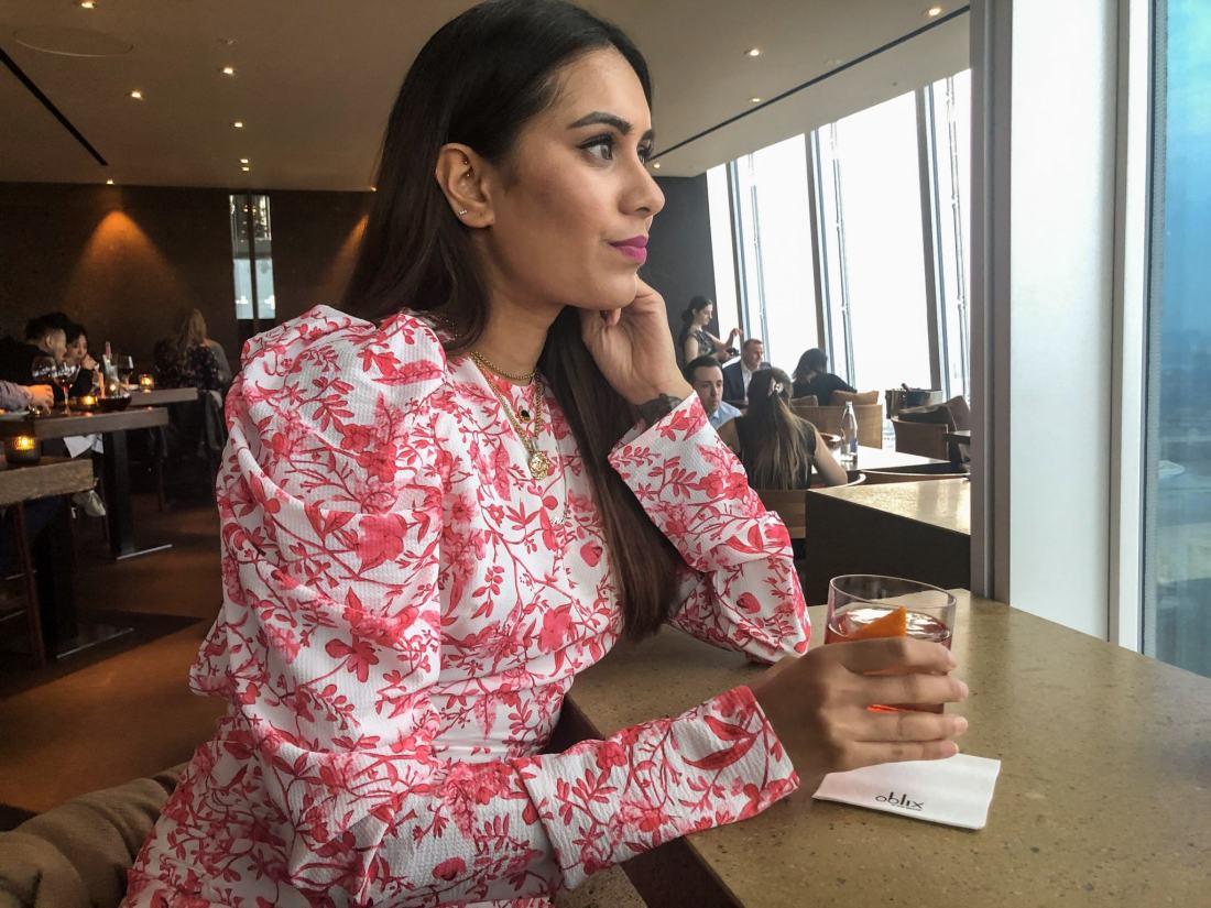 London Blogger Reena Rai at Oblix The Shard