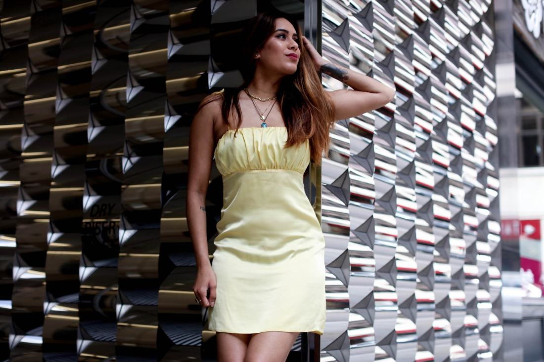 UK fashion blogger Reena Rai wearing ASOS Reclaimed Vintage