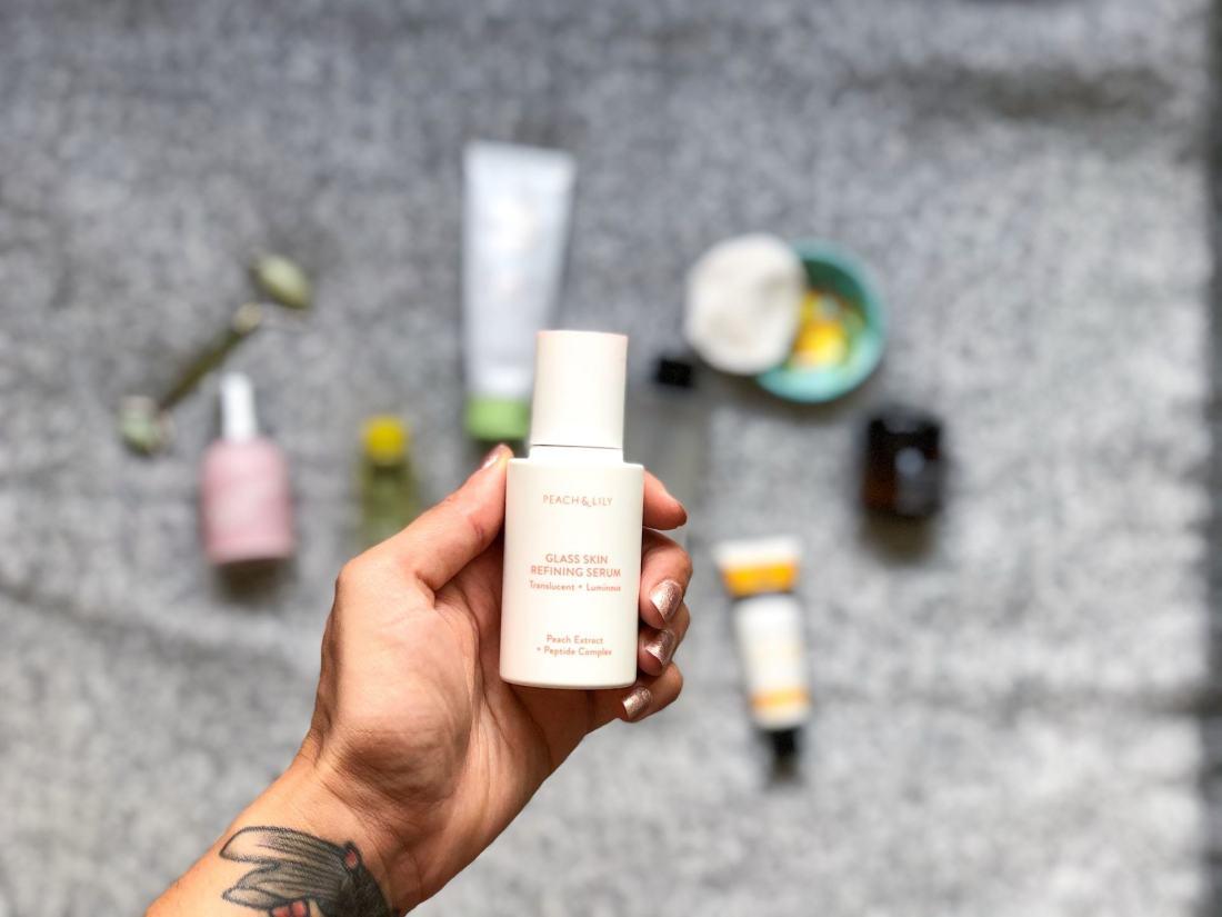 Peach & Lily Glass Skin Serum skincare routine for oily skin