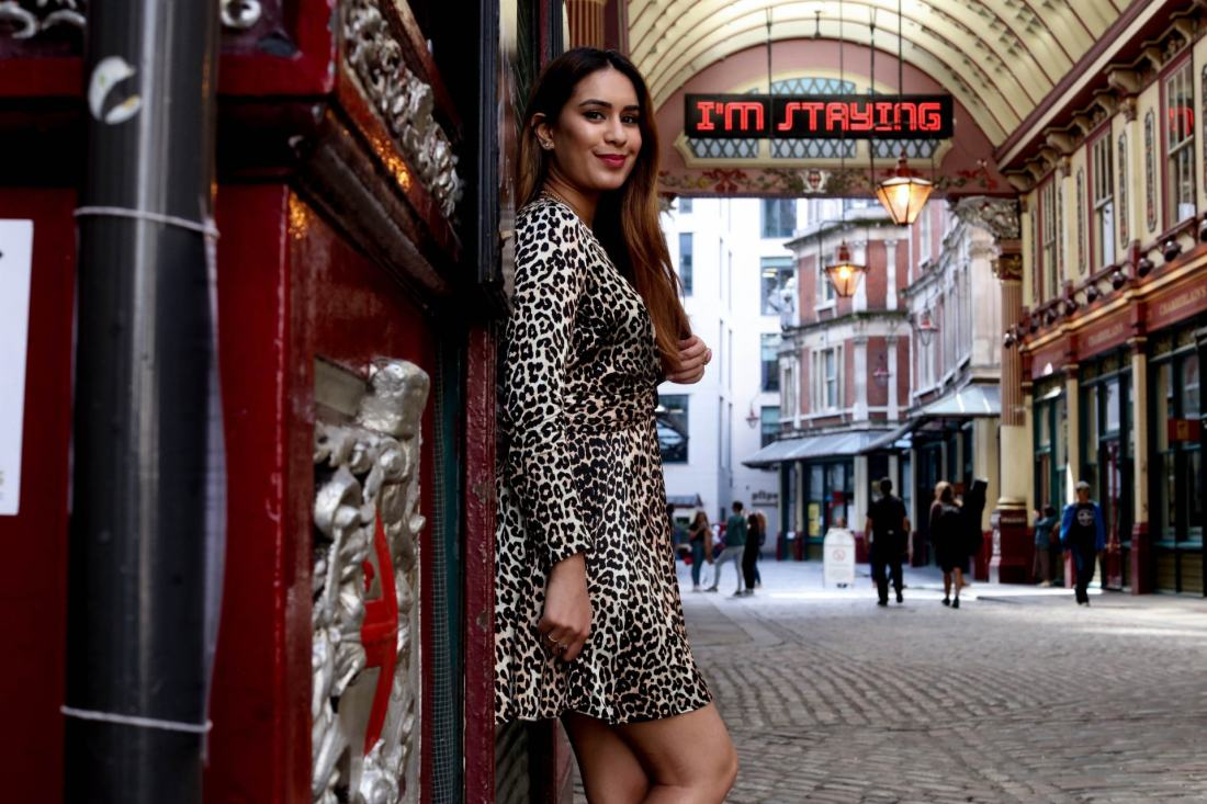 UK fashion blogger Reena Rai wearing Ganni