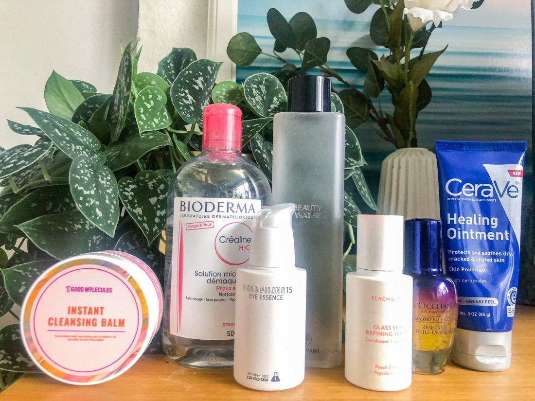 Evening hydrating skincare routine